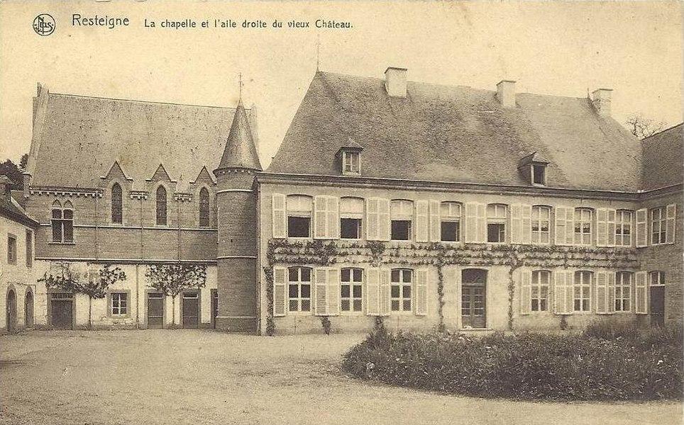 Le château de Resteigne;  Chapelle et aile droite