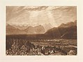 Chain of Alps from Grenoble to Chamberi (Liber Studiorum, part X, plate 49) MET DP821485.jpg