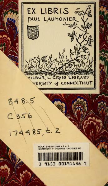 File:Chamfort - Œuvres choisies, éd. Lescure, II.djvu