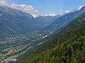Chamonix valley from Téléphérique de l'Aiguille du Midi cable car.JPG