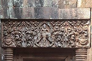 Culture of Laos - Ornate lintel Wat Phu, Champasak