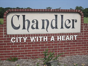 Chandler, Texas - Chandler welcome sign