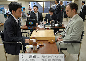 Alexandre Dinerchtein - Dinerchtein (right) playing against Lee Chang-ho.