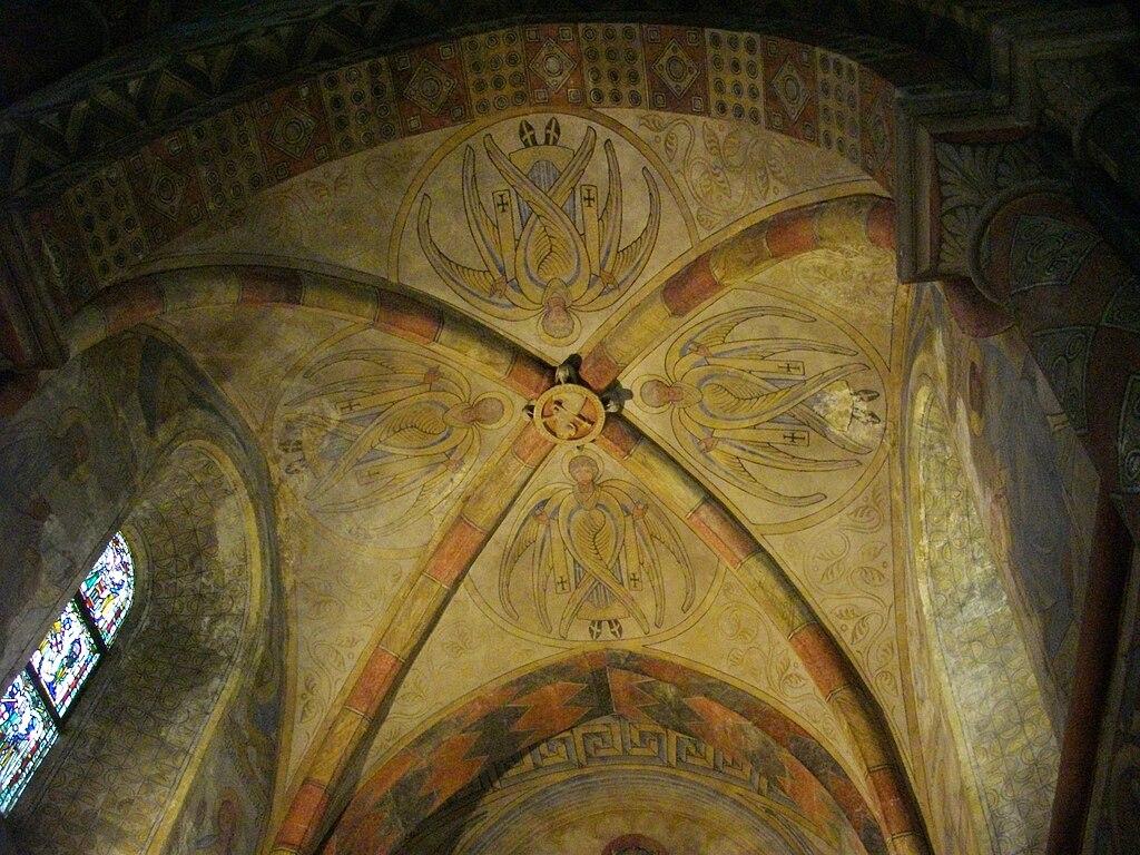File chapelle des templiers peintures plafond jpg wikimedia commons - Plafond heeft de franse ...