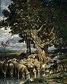 Charles Émile Jacque (1813-1894) - Sheep at a Watering Place - NG 1046 - National Galleries of Scotland.jpg