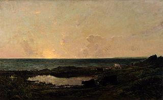 Sunset on the Coast at Villerville