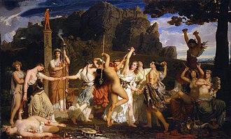 Charles Gleyre - La Danse des bacchantes, 1849
