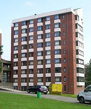 University of Leeds accommodation - Charles Morris Hall on the main campus.