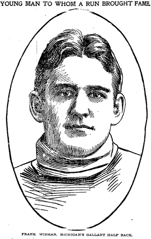Charles Widman - Portrait of Widman from the Chicago Daily Tribune, Nov. 25, 1898
