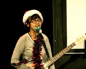 Charlyne Yi - Performing in the Garfunkel and Oates Christmas Show at the UCB Theater