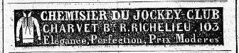 Charvet advertisement 1839