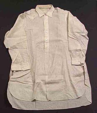 Shirt - Charvet shirt from the 1930s, Norsk Folkemeuseum, Oslo
