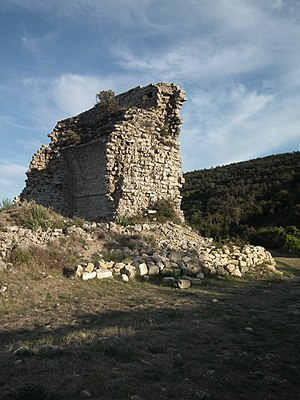 Barbaira - Ruins of the Château of Miramont