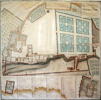 Keep of Pons - Plans of Marsan from 1718 in the Pons municipal museum
