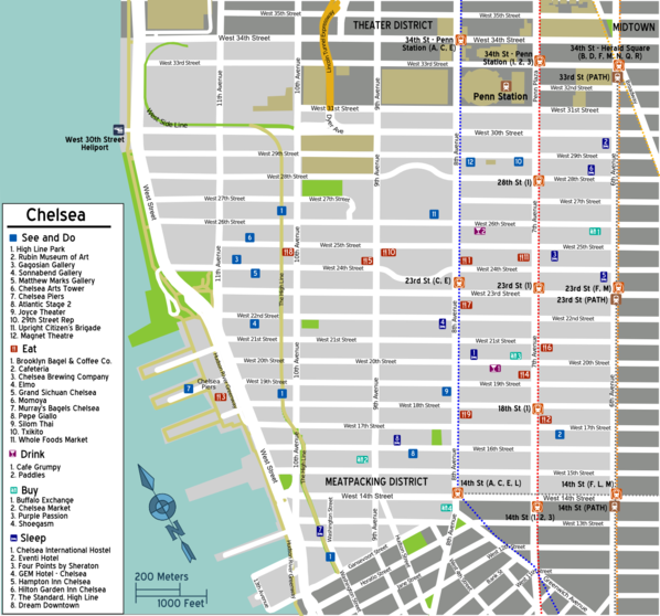 Map of Manhattan/Chelsea