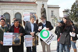 Friends of the Earth (US) - Friends of the Earth, US rally in Ecuador against Chevron.