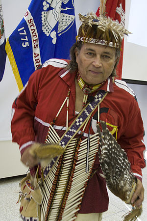 "Nottoway people - Image: Chief Walter D. ""Red Hawk"" Brown III"