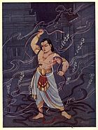 Child bhima fight with Nagas