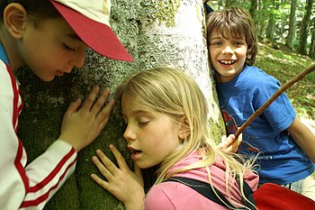 Children at a World Wildlife Fund for Nature camp in Tuscany, Italy - 20060615.jpg