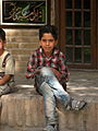 Children in Ribat-i-Abbasi of Nishapur (Hossein - Ali - Fatemeh - Hengameh and another girl - probably Afghani) 41.jpg