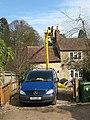 Chimney sweep using hydraulic platform - geograph.org.uk - 1780643.jpg