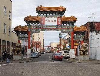 New diaspora - The entrance to Chinatown in downtown Portland, Oregon.