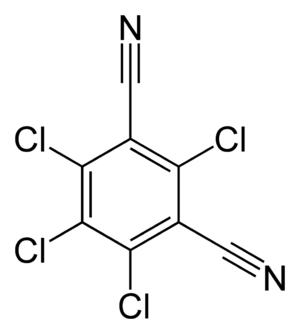 Chlorothalonil - Image: Chlorothalonil 2D skeletal