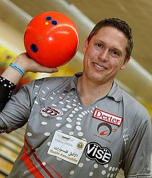 Chris Barnes (bowler) - Barnes in 2014
