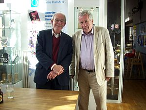 Chris Mullin (politician) - Chris Mullin with Martin Bell at Hexham book festival in 2009