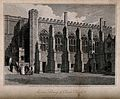 Christ Church, Oxford; the library. Line engraving by J. Ske Wellcome V0014077.jpg