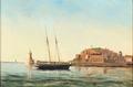 Christian Eckardt - Indsejlingen til St. Pierre - 1880.png