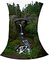 Christine Falls and Bridge, Mount Rainier National Park, equirectangular HDR pano 01.jpg