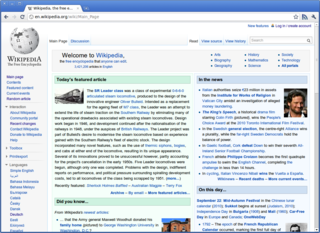 World Wide Web System of interlinked hypertext documents accessed over the Internet