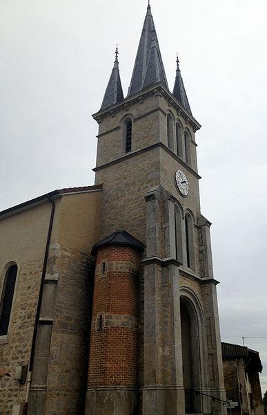 L'église de Faramans (Ain).