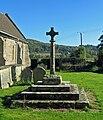 Churchyard cross in St Cuthbert's Holme Lacy.jpg