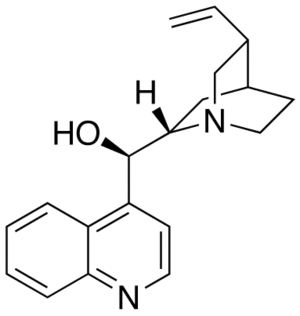 Asymmetric hydrogenation - Cinchonidine, one of the cinchona alkaloids