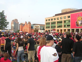 2007 Stanley Cup Finals - Ottawa City Hall before game three of the Stanley Cup Finals