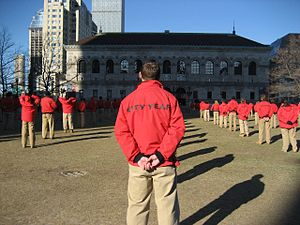 City Year - City Year AmeriCorps members in Boston's Copley Square