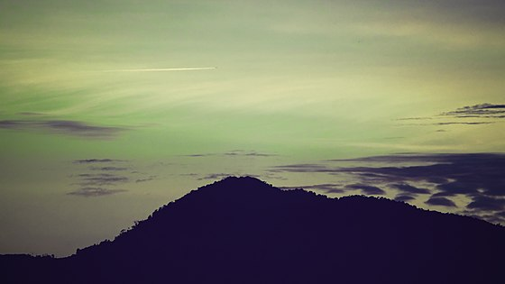 Civil twilight above unnamed hill in Selangor, Malaysia.jpg