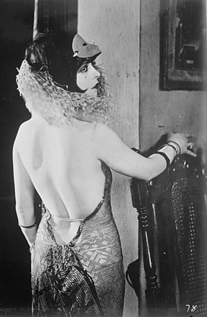 Backless dress - Early backless dress worn by Clara Bow, mid-1920s