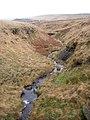 Clough below waterfall on Short Grain, Marsden - geograph.org.uk - 289001.jpg