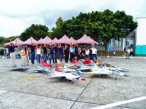 Club Members Photoed with Radio-controlled Aircrafts after Flight Show 20120602a.jpg