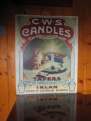 British co-operative movement - An advert for CWS candles