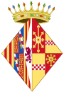 Coat of Arms of Agnes of Cleves as Navarrese Consort.svg