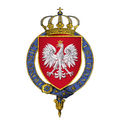 Coat of Arms of Casimir IV, King of Poland, KG.png