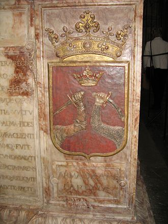 Coat of arms of Finland - Figure 6: Coat of arms of Karelia, tomb of King Gustav Vasa (Uppsala cathedral, Sweden)