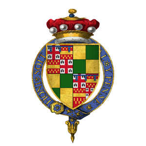 Baron Berners - Quartered arms of John Bourchier, 1st Baron Berners (d. 1474), KG