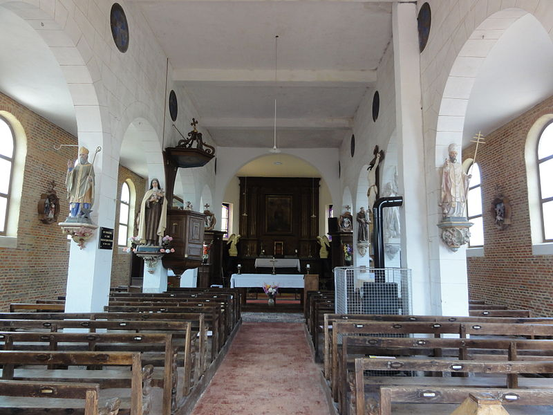 Coingt (Aisne) Église Sainte-Barbe, intérieur