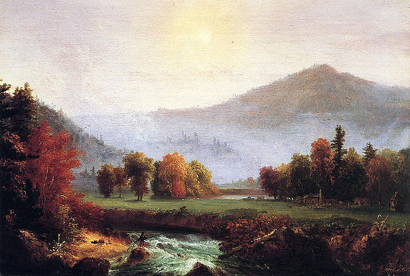 Morning Mist Rising In Plymouth, New Hampshire by Thomas Cole