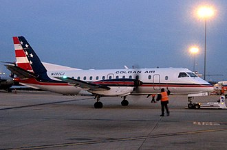 Colgan Air - Saab 340B in Colgan Air livery at Washington-Dulles International Airport
